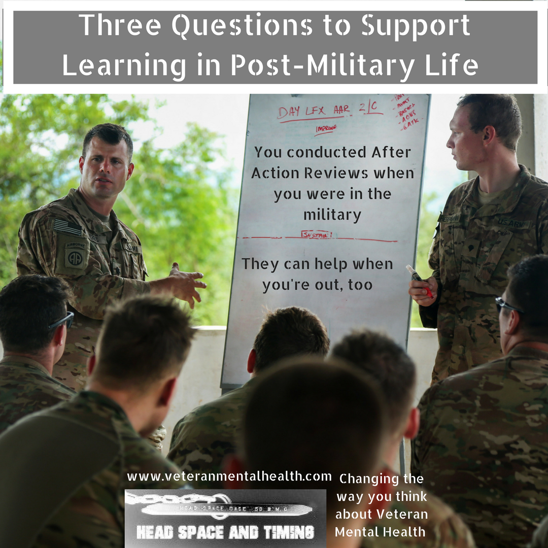 Three Questions to Support Learning in Post-Military Life