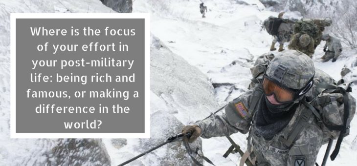 Veterans, Do You Strive for Success or Significance?