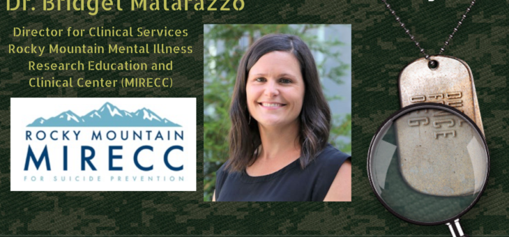 STMSS48 – Dr. Bridget Matarazzo – Risk Identification and Clinical Consultation for Suicide Prevention
